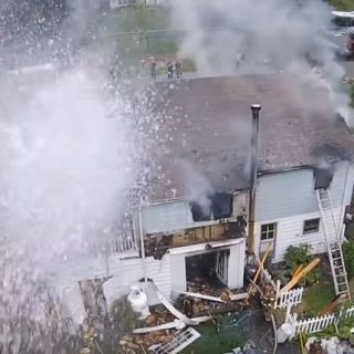 """asdfasdfasdf 320x320 - Watch Firefighters Use A Hose To Shoot Down Drone """"Interfering"""" With Rescue Operation"""