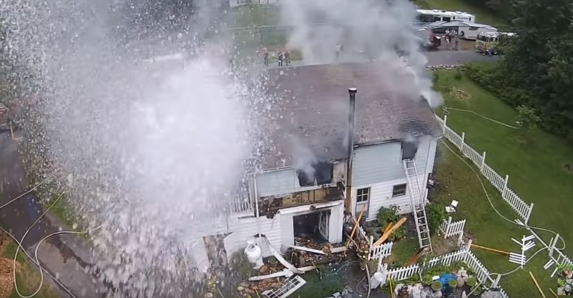 """Watch Firefighters Use A Hose To Shoot Down Drone """"Interfering"""" With Rescue Operation Featured"""