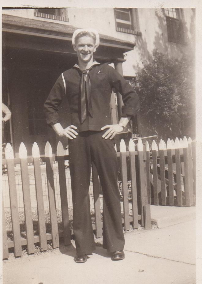 Robert J. Skead in Navy uniform.