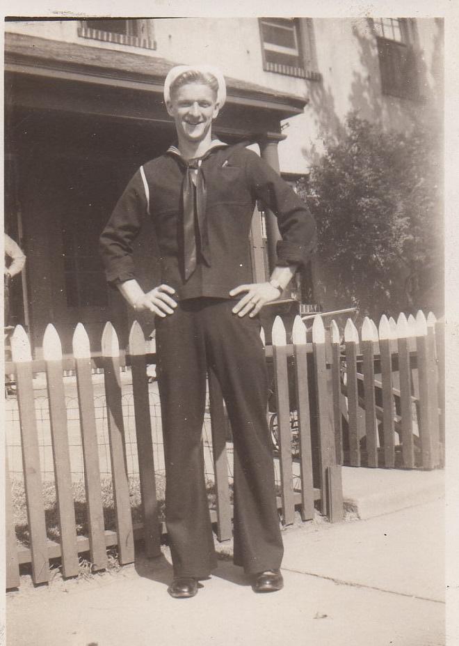 Robert J. Skead in Navy uniform.