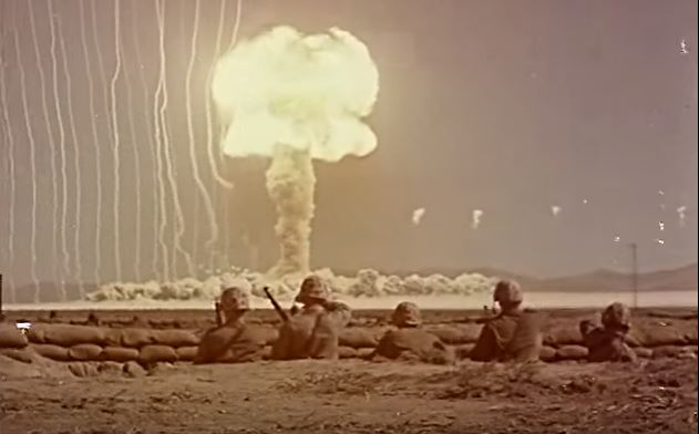 Watch Color Footage Of American Soldiers Getting Exposed To Nuclear Blasts In The 1940's Featured