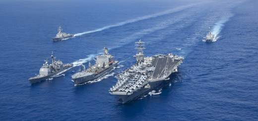 carriers often travel in formations called carrier strike groups as seen below 520x245 - 3 US carriers are now in the Pacific amid tensions with North Korea — here's what they bring with them