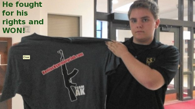 Student Suspended For Gun Club T-Shirt Fights Back And Wins Featured