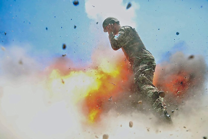 clayton blast two - The Army Just Released These Haunting Images Taken Moments Before A Combat Photographer's Death
