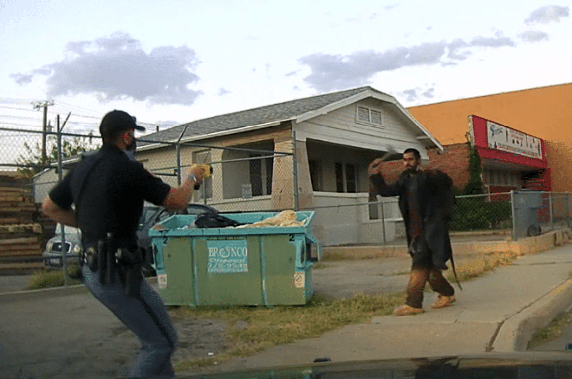 Pics: Man with hatchet attacks El Paso police officer after liquor store theft