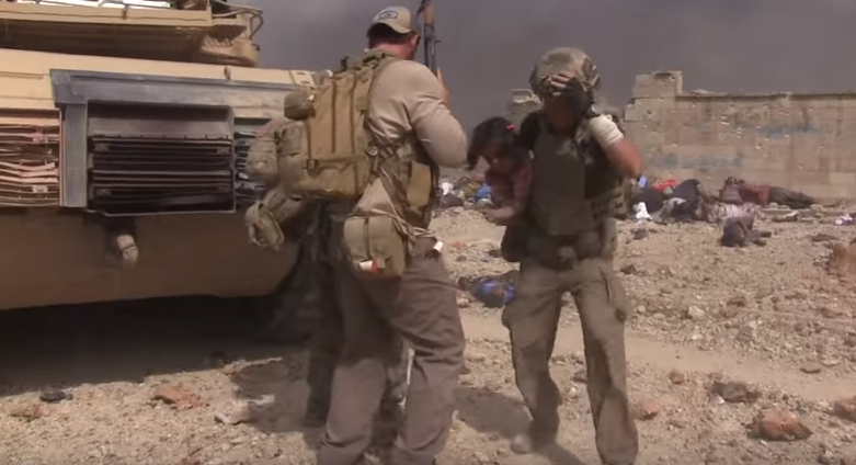 eubanks - Must Watch: Former Green Beret-turned-aid worker runs through ISIS gunfire to rescue little girl
