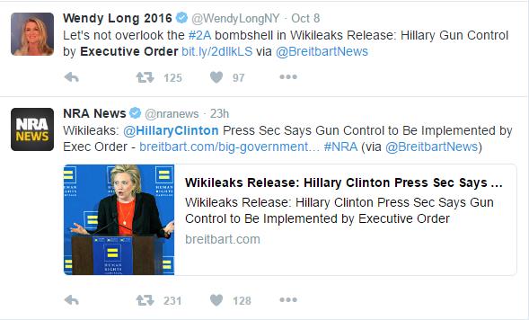 exec - Wikileaks Release Reveals Hillary Clinton's Press Secretary Says Clinton Plans Executive Order For Gun Control