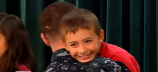 Navy Father Surprises Son During Presentation On Patriotism Featured