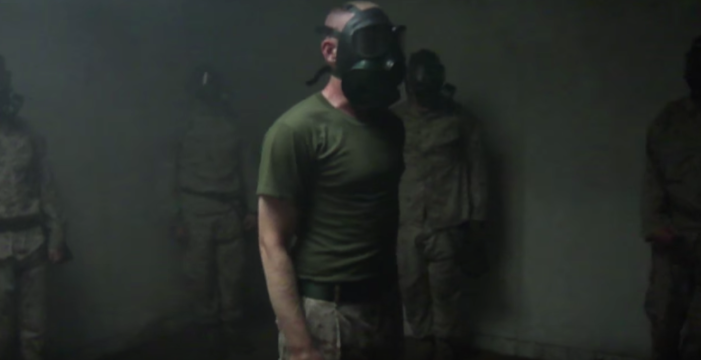 gas chamber - Watch U.S. Marine recruits endure the gas chamber