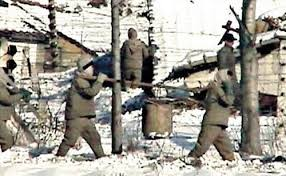 Leaked photo of a North Korean work camp.