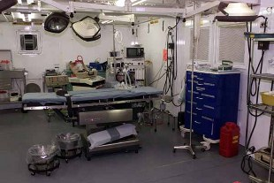 The operating room at the detainee hospital, at Camp Delta Guantanamo Bay, Cuba.  (U.S. Army photo by Staff Sgt. Stephen Lewald) ( Released)