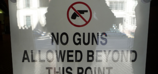 guns allowed sign