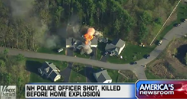 Officer Down As New Hampshire Home Explodes On Camera Featured