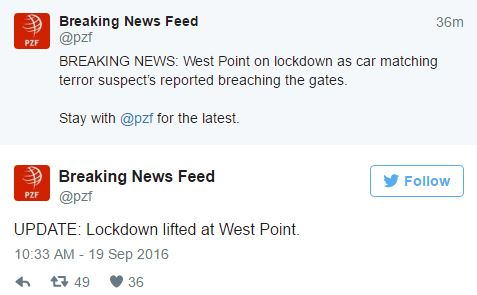 jjjj - Terror Alert Triggers False Alarm At West Point Military Academy