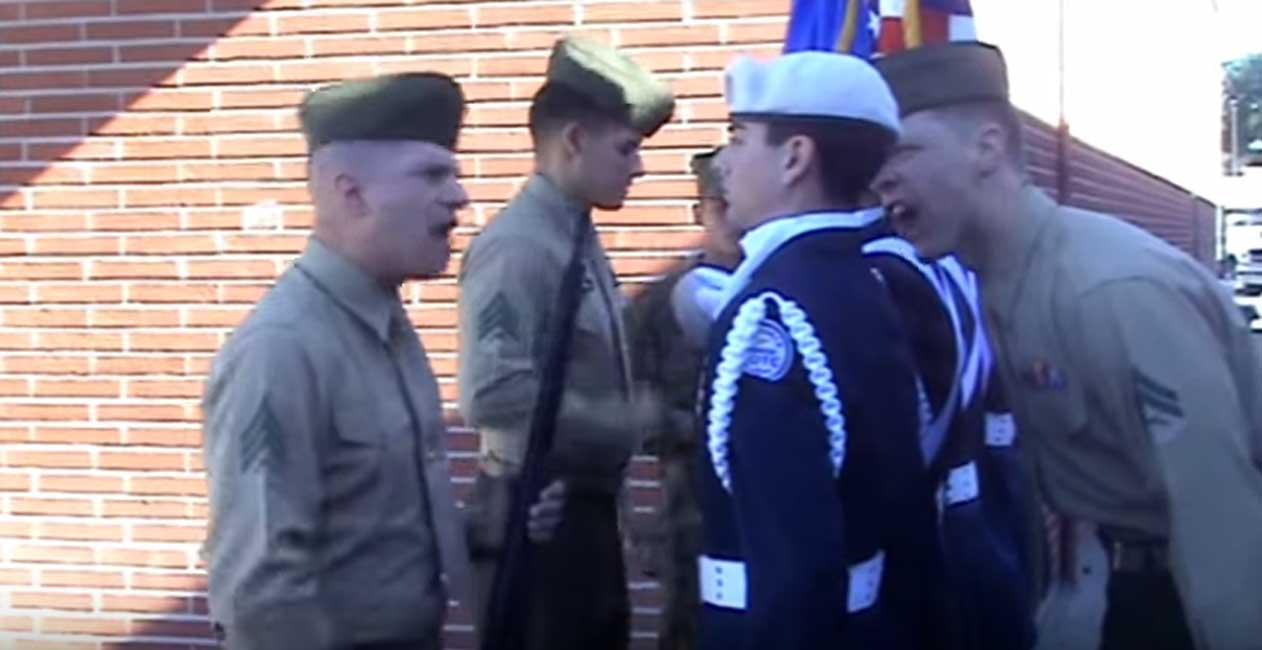 (VIDEO) Marines Hilariously Mess With JROTC Cadets Featured