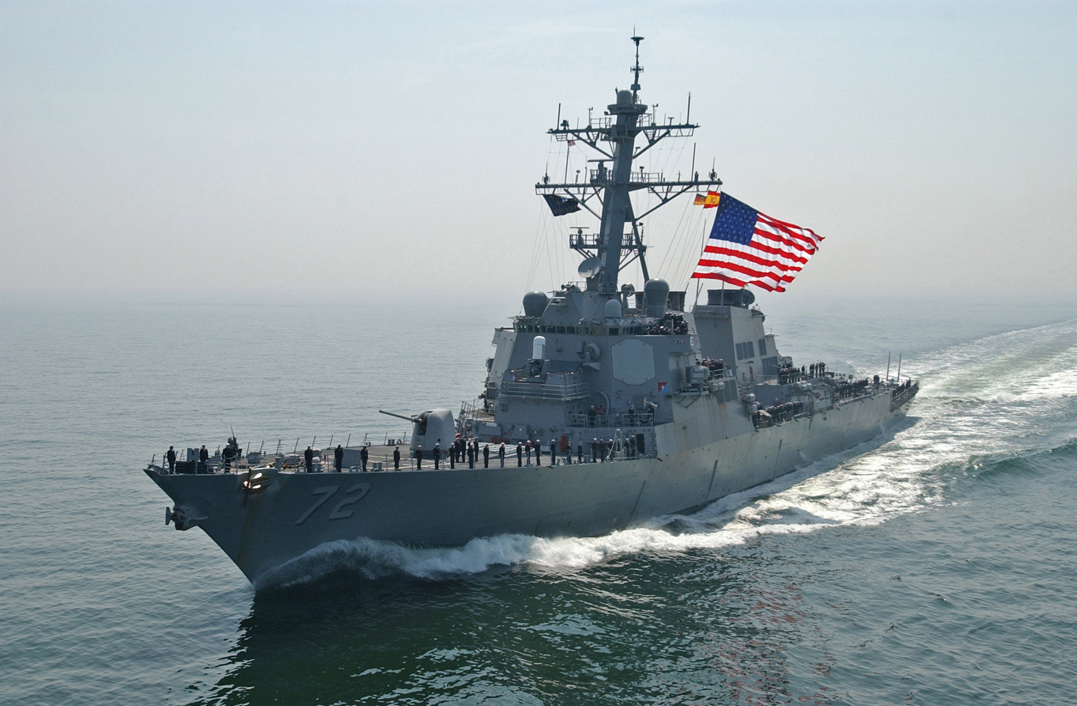 U.S. Navy Destroyer Fires Warning Shots At Iranian Vessels Featured