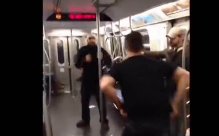Thug On Subway Messes With A Marine, Promptly Has Face Smashed In Featured