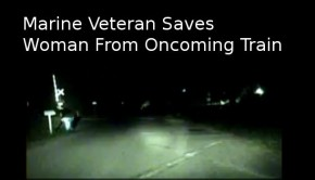 Officer Saves Woman From Oncoming Train
