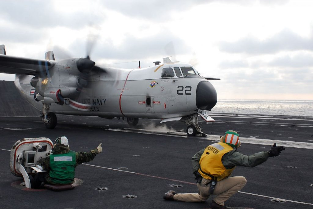 one squadron of c2 a greyhounds 1024x685 - 3 US carriers are now in the Pacific amid tensions with North Korea — here's what they bring with them