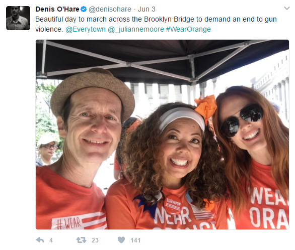orange 3 - Hollywood Stars Wear Orange To Raise Awareness For Gun Violence