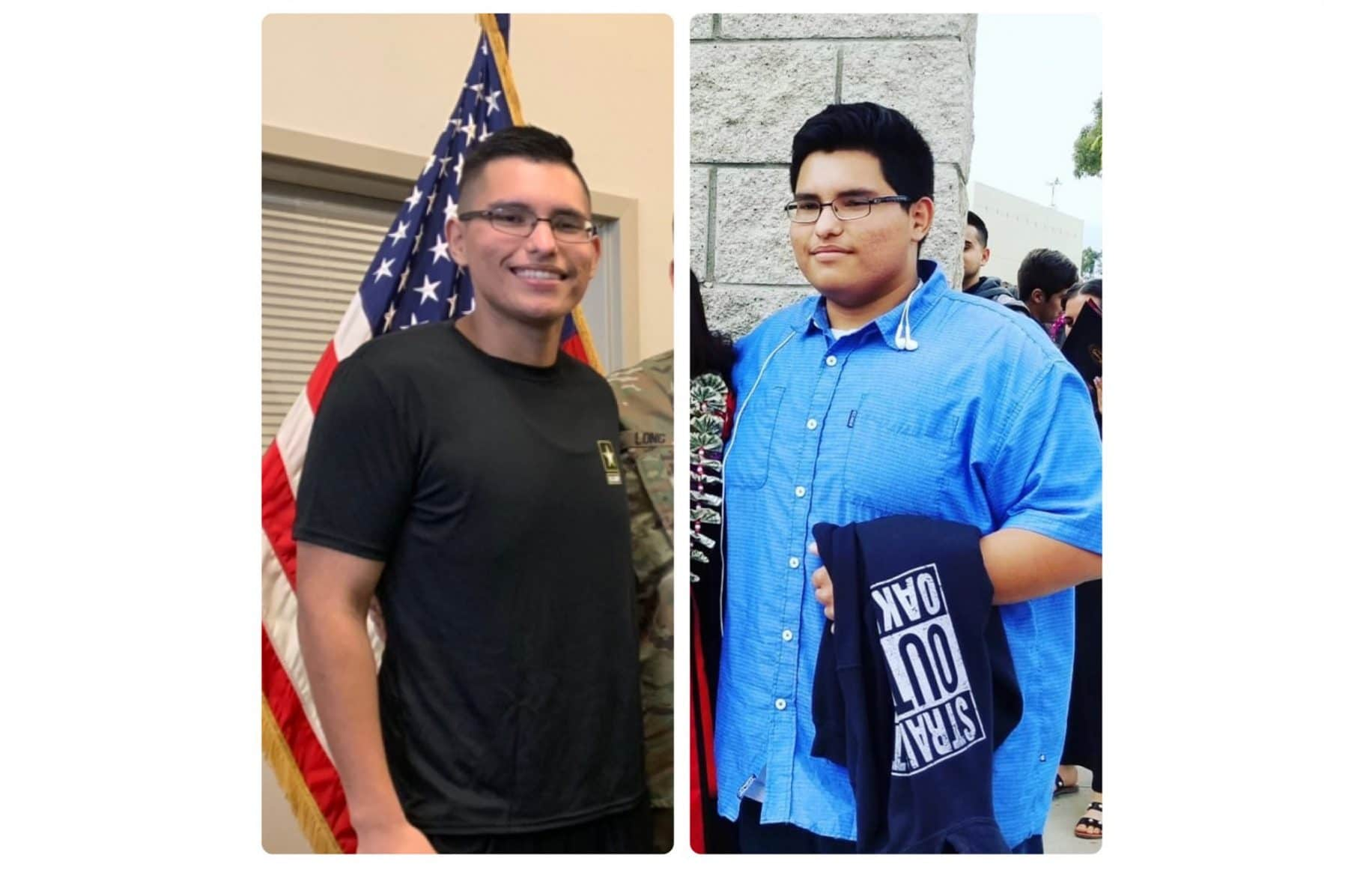 Teen loses 113 pounds to enlist in Army