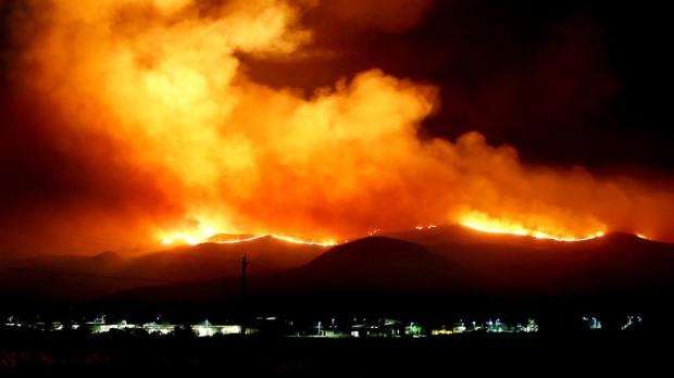 Camp Pendleton Burning At Night