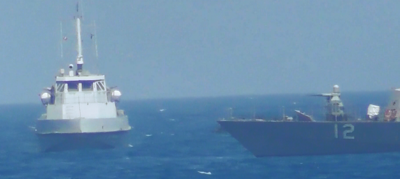 Here are the videos of the US Navy ship firing warning shots at an Iranian vessel Featured