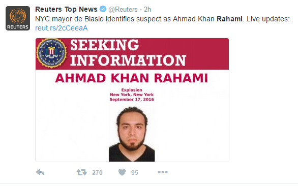 rahami 3 - BREAKING: Police Release Photo Of NYC Bombing Suspect