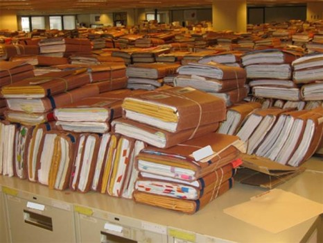 VA Office of Inspector General Claims storage filing area at the VA Regional Office in Winston-Salem, N.C.