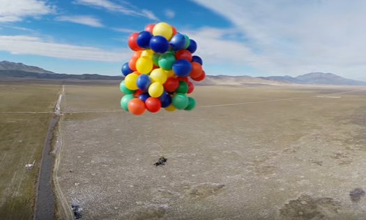 roner - GoPro Athlete Suspended In Hot Air Balloon Shoots Himself Out Of The Sky With A Shotgun