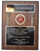 "Award of Appreciation Presented to Michael Sulsona, Squad Leader, ""C"" Co 1st Bn 1st Marines, S Vietnam 1970-1971 To My Hero And Best Friend, Savino A Corona, Pointman, A Co 1st Bn 5th Marines, Hill #34, S Vietnam 1970-1971 1999"