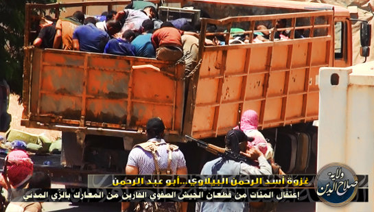 Iraqis put in trucks to ship to mass graves