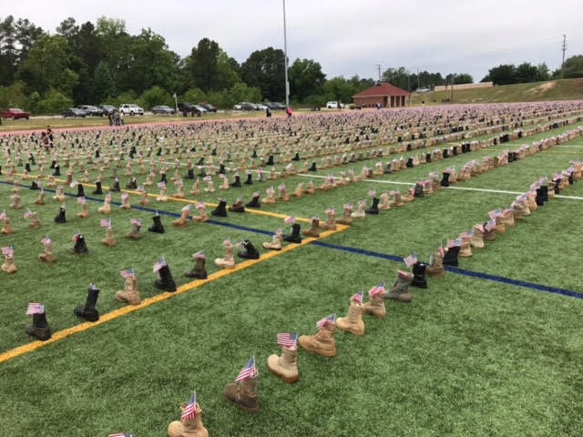 unnamed 1 15 - More Than 7,000 Boots Go On Display At Fort Bragg To Honor Fallen Service Members